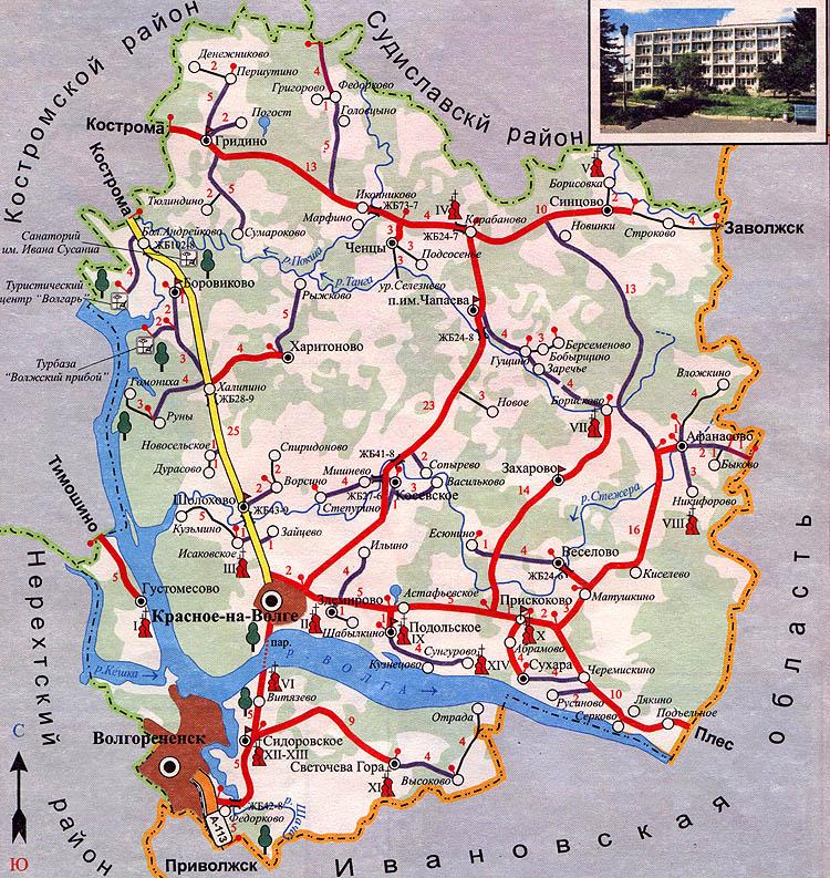 Карта-схема Красносельского