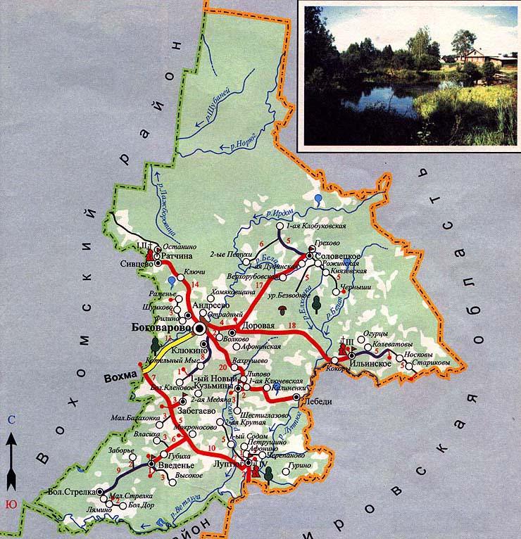 Карта-схема Октябрьского