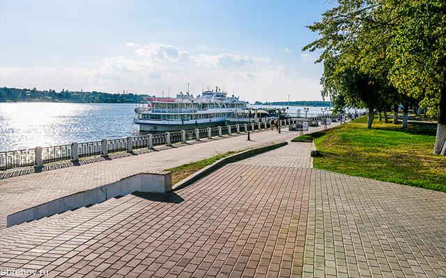 Набережная, Волга, Кострома, Трасса, Велосипед