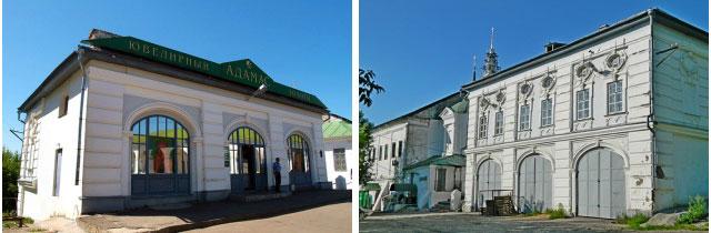 Зелёные ряды. Достопримечательности Костромы. Торговые ряды в Костроме