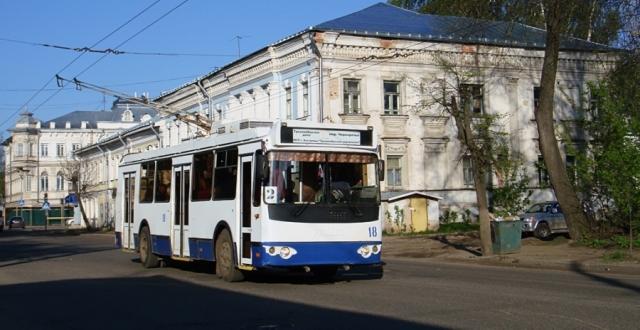 кострома троллейбусы, кострома расписание троллейбусов, Троллейбусное управление, стоимость проезда кострома, кострома транспорт