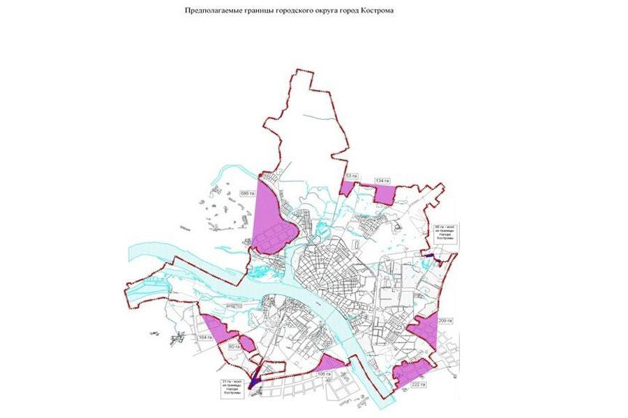 В Костроме начались мероприятия по уточнению и изменению границ города