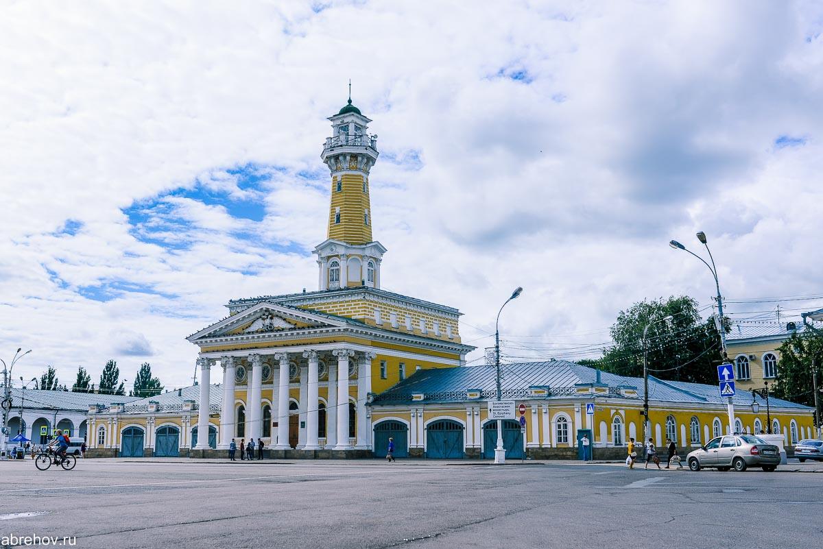 Пожарная каланча в Костроме - достопримечательности