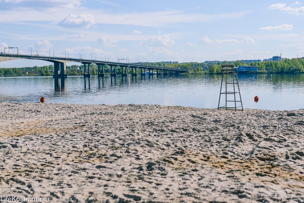 Центральный пляж Кострома